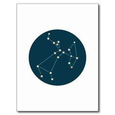 Constelação do Sagitário Cartão Postal