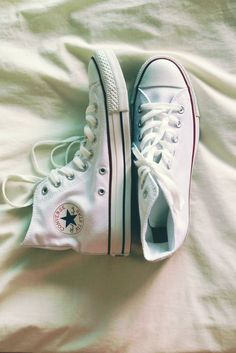 White Converse High-Tops...just got them!!! @cassieguyette from music rx (hospital)