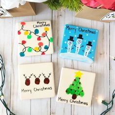 12 Sentimental Homemade Christmas Gifts from Kids – The Crazy Craft Lady - Diy christmas gifts Easy Homemade Christmas Gifts, Christmas Crafts For Gifts, Christmas Activities, Christmas Fun, Holiday Fun, Christmas Gift From Baby, Parent Christmas Gifts, Toddler Christmas Crafts, Christmas Coasters