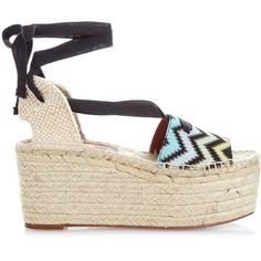 Missoni Mare MATCHESFASHION.COM ($405) ❤ liked on Polyvore featuring shoes, sandals and missoni mare