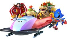 TeamBowser & Bobsleigh from the official artwork set for #Mario and #Sonic at Sochi 2014 Winter Games on the #Wii and #3DS. #Mario http://www.superluigibros.com/