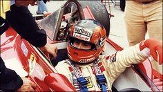 F1 Ferrari Gilles Villeneuve au volant de la 312T4 durant le Grand Prix de France en 1979. (Photo: Jean-Claude Loustau)