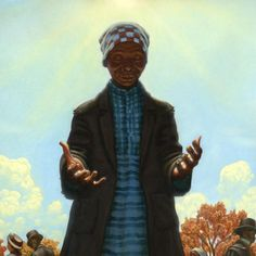 "Cover art for ""Moses: When Harriet Tubman Led Her People to Freedom"" (Kadir Nelson)"