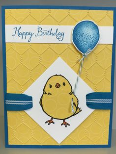 Stampin' Up! honeycomb happiness and balloon celebration birthday card