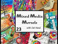 Mixed Media Morsels 23 - Handmade Painted Tape - YouTube