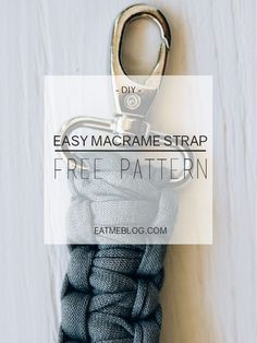 Easy macrame strap for the knitted clutch_diy