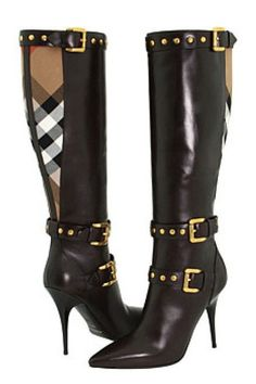 Popular Contrast Materials Pointed toe Knee High Boots