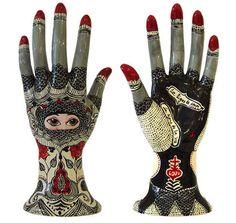 Moroccan ceramic hand