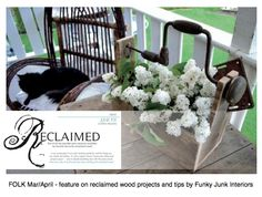 Feature on working with reclaimed lumber and plenty of inspiring projects - FOLK March/April at americanfolklife....