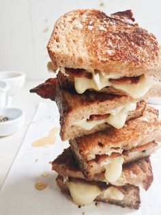 Sticky Finger Maple Bacon Grilled Cheese | http://joythebaker.com/2017/04/sticky-finger-maple-bacon-grilled-cheese/