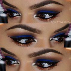 Throwback :) Shadows:  Blue: Make Up For Ever pigment in # 16 MAC Brown Script and a few coastal scents shadows on the crease @nyxcosmetics pigment Nude Pearl on brow bone and inner corner MAC Copper Sparkle pigment on lower lash line @anastasiabeverlyhil
