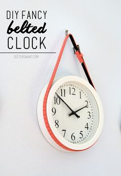 DIY Fancy Clock. SO easy and so fun!