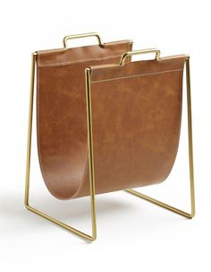 Hiba Magazine Rack La Redoute Interieurs - Home & Furniture Range Magazine, Magazine Racks, Mad Men Fashion, Bed With Drawers, Structure Metal, Havana Brown, Fireplace Surrounds, Solid Pine, Childrens Beds
