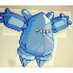Regice (378) - Pokemon perler beads by frozenstaz