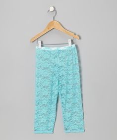 Look at this Sweet Bluette Blue Lace Leggings - Infant, Toddler & Girls on #zulily today!