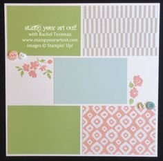 Scrapbook pages using Sweet Dreams paper and buttons & the Painted Petals stamp set… #stampyourartout #stampinup - Stampin' Up!® - Stamp Your Art Out! www.stampyourartout.com
