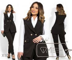 Брючный костюм с двубортным жилетом на подкладе, накладным карманом и широкими лацканами, брюки зауженные (на резинке) X10140 Double Breasted Suit, Suit Jacket, Suits, Jackets, Fashion, Moda, Fasion, Wedding Suits, Fashion Illustrations