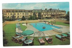 Vintage Maine Chrome Postcard View of Swimming Pool Lookout Hotel Ogunquit | eBay