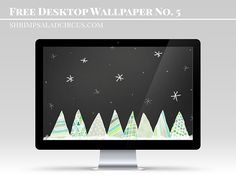 Download this sweet December 2014 free desktop wallpaper with hand-painted Christmas trees on a chalkboard background!