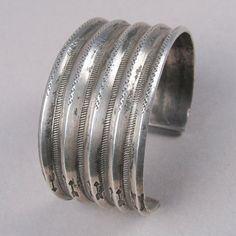 Wide silver cuff c. 1900