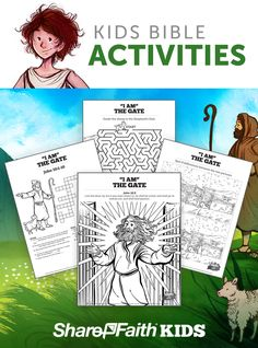 The # 1 Resource for Kids Bible Activities! Nothing is more exciting than helping a child discover the wonder of God. Sharefaith Kids printable Sunday School activity pages are an amazing resource made by teachers for teachers. Your children are going to love these beautifully designed activity printouts including – Coloring Pages, Bible Mazes, Crossword Puzzles, Spot the Difference, Bible Bookmarks and more these!