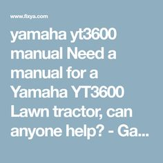 Buy oem parts for yamaha lawn tractor 1990 carburetor diagram yamaha yt3600 manual need a manual for a yamaha yt3600 lawn tractor can anyone help fandeluxe Images
