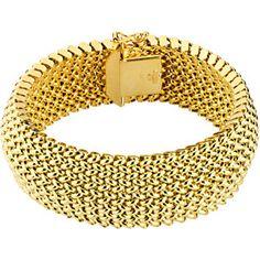 14k Gold 21mm Tesere Mesh Bracelet $2,500.00