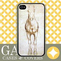 hey @simone en voiture Bosman! iPhone Case 5 Case, iPhone 4 Case, Samsung Case, Da Vinci Horse Study. $14.99, via Etsy.