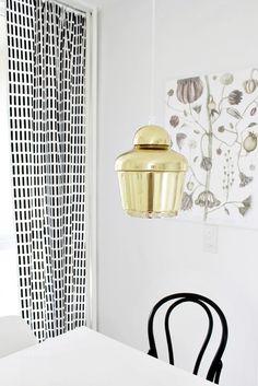 Artek A330 / Artek Sienna / Black & White / Kitchen / Dining Interior Inspiration, Kitchen Dining, Interiors, Curtains, Black And White, Summer, House, Blinds, Summer Time