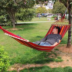 Home & Garden Bedding Sets Popular Brand 150kg Capacity 200*80cm Canvas Fabric Double Spreader Outdoor Bar Hammock Outdoor Camping Leisure Swing Hanging Bed Top Watermelons