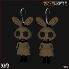 Isn't she cute? I can't let her on my inventory only, her cuteness need to be expose hehehehe Scarah, a voodoo doll mesh earrings is available on SCALA™ Freakshow Carnivale for only 50L…