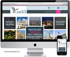 Rediseño de página web para Viajes Aguila #Saltillo #Paginaweb  www.viajesaguila.com