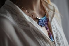 Hand Dyed Necklace