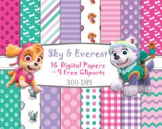Skye and everest birthday sky and everest paw by BusyBBoutique87