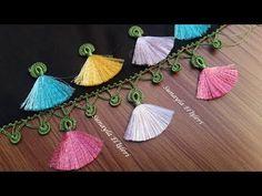 Onlar küpe yapar biz oya yaparız hemde alasını yaparız - YouTube Crochet Borders, Crochet Blanket Patterns, Saree Tassels Designs, Knit Shoes, How To Make Earrings, Buy Earrings, Ribbon Work, Crochet Videos, Baby Knitting