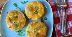 Mini Denver quiche...perfect portion size and portable if you're always running late like me!  Ingredients: 6 large eggs 1½ cups nonfat milk Sea salt and ground black pepper (to taste; optional) Non-stick cooking spray ½ medium onion, chopped ½ medium green bell pepper, chopped ½ medium red bell pepper, chopped 2 oz. low-sodium, nitrite-free lean ham, chopped 2 oz. cheddar cheese, grated  Preparation: 1. Heat oven to 375° F. 2. Combine eggs and milk in a medium bowl. Season with salt and…