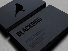 Blackbird Business Card Design - Black print on black paper... this is business card love.