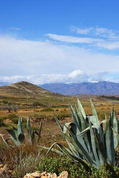 Sierra de los Filabres vista desde el Cabo de Gata