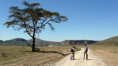 Cycling in Hell's Gate National Park. ©Bunch of Backpackers.