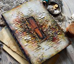 """Handmade by Iya: блокнот """"Створки старой двери"""""""