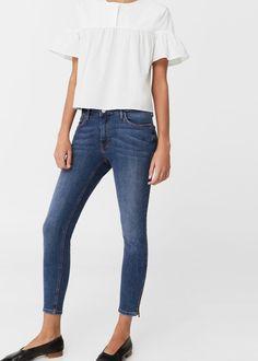 Crop skinny isa jeans - Women   MANGO USA Wardrobe Staples, New Wardrobe,  Skinny 07babfdd2c7b