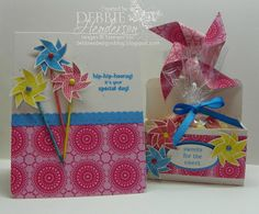 Stampin' Up products Sweets for the Sweet Stamp set and pinwheel by Debbie Henderson, Debbie's Designs.