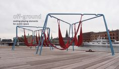 Swings and Hammocks for Public Spaces - Jair Straschnow & Gitte Nygaard, Copenhagen | Playscapes