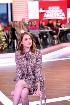 Emma Stone - Candids at Good Morning America Set in New York City November 27th 2016