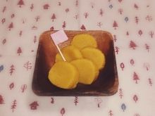 ▼ ぎそう|日々の暮らしと。○沢庵風すあま かぼちゃパウダーを使って『すあま』を作ってみた!