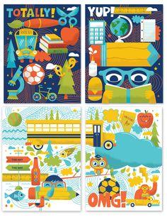 Chronicle Books Back to School | Tad Carpenter Creative