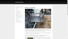 Bandsaw cut off table Mk 2 - mikesworkshop Metal Workshop, Cut Off, Table, Design, Tables, Desk, Tabletop, Desks