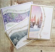 Trois cartes à voir, cela vous dit ? - Le Blog de Cathy Homemade Christmas Cards, Christmas Cards To Make, Xmas Cards, Homemade Cards, Holiday Cards, Beautiful Birthday Cards, Stamping Up Cards, Handmade Birthday Cards, Winter Cards