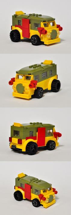 Mini VW Camper TMNT Party Wagon #Eurobricks #PimpMyCamper