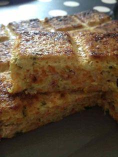 Quiche sans pâte carottes, courgettes et bacon Ww Recipes, Light Recipes, Recipies, Quiches, Weird Food, Food Inspiration, Love Food, Tapas, Bacon